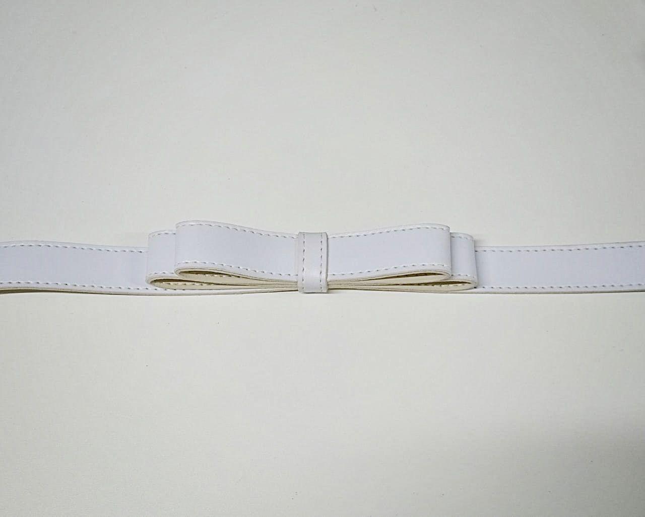 Cinto Laço Duplo SBA108 Branco