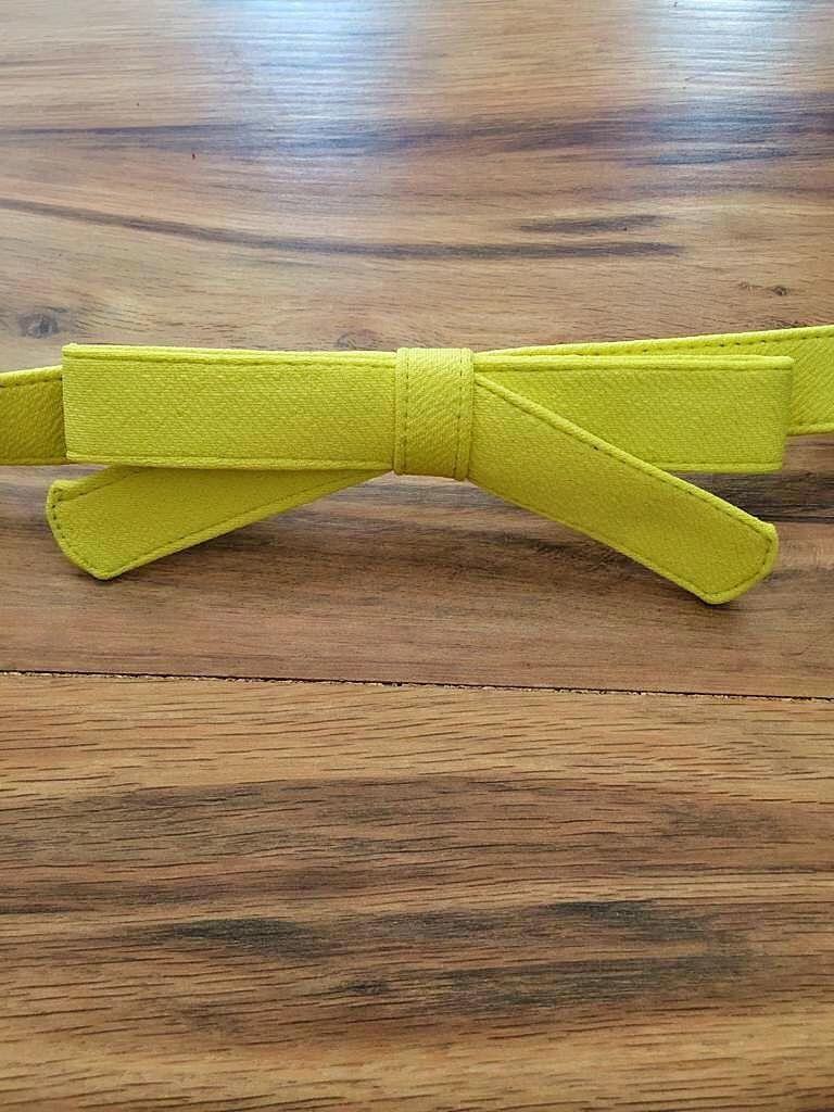 Cinto Laço SBA107 Amarelo