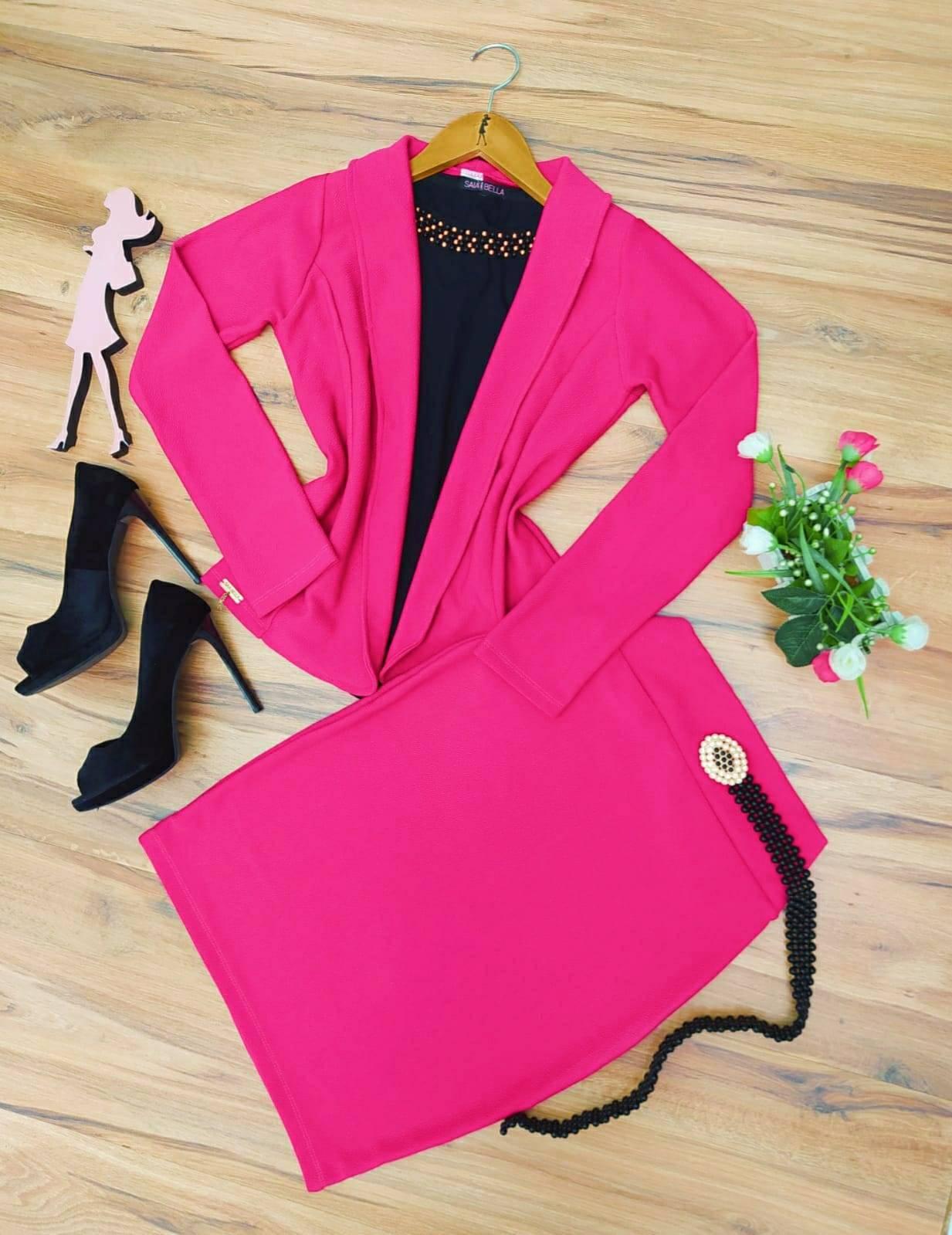 Conjunto Social Madame Saia Bella SB777 Pink