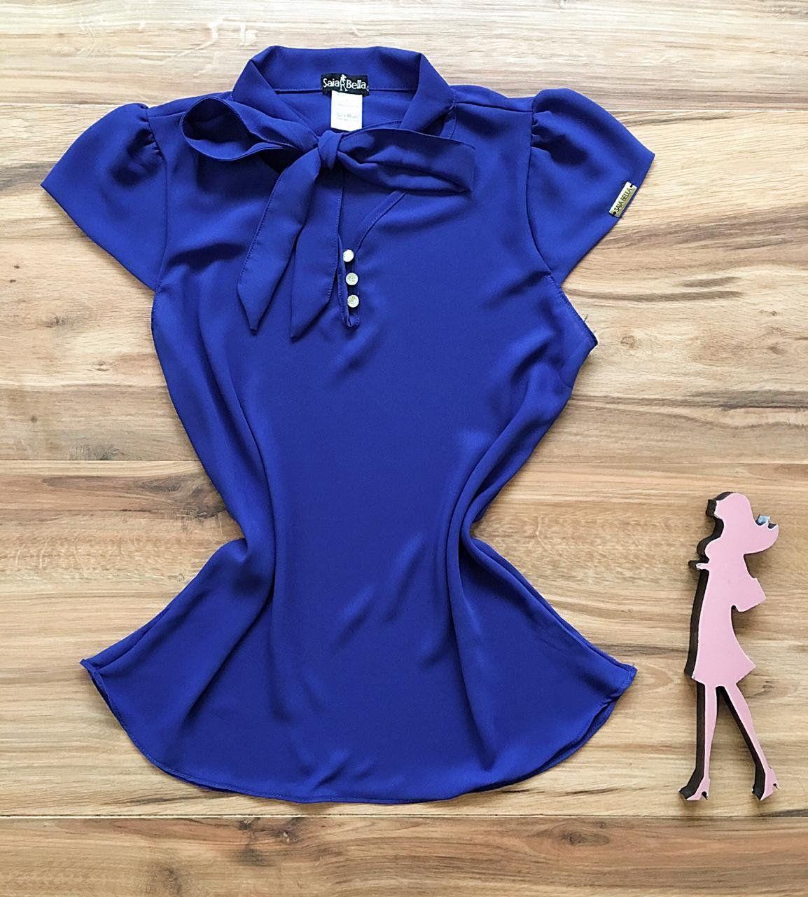 Blusa de Renda Saia Bella - SB9975  azul