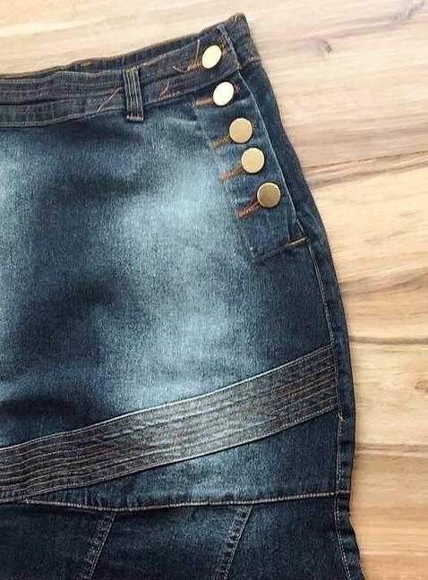 Saia Jeans Coleção Verão AT077 escuro
