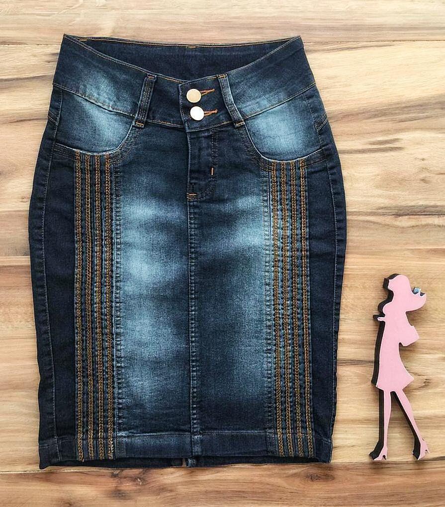 Saia Jeans Coleção Verão AT078