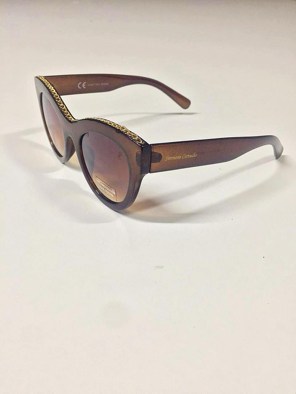 Óculos de Sol ELIETE By Simmone Carvalho Marrom