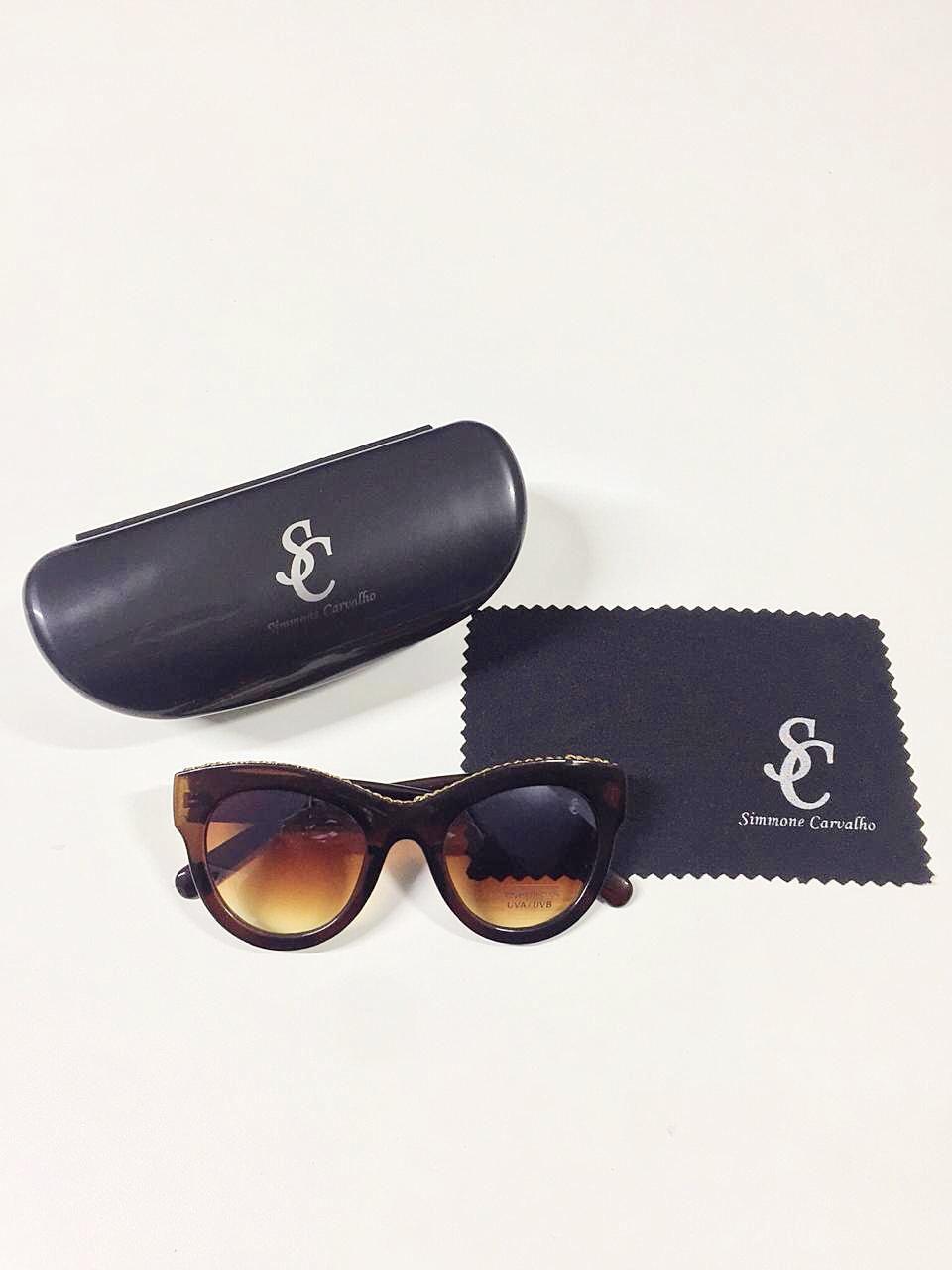 Óculos de Sol Alexandra By Simmone Carvalho Marrom