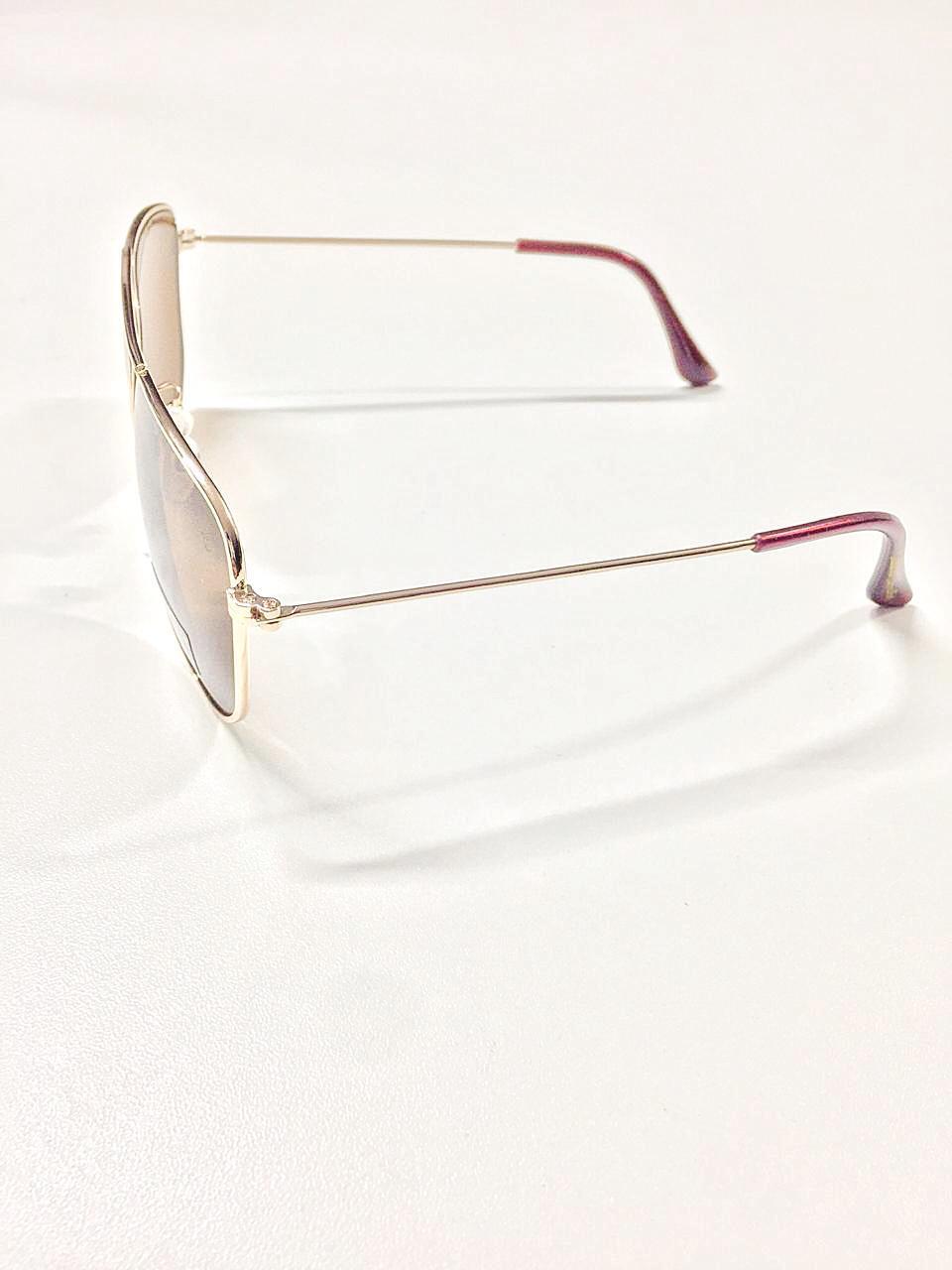 Óculos de Sol Aline By Simmone Carvalho Marrom