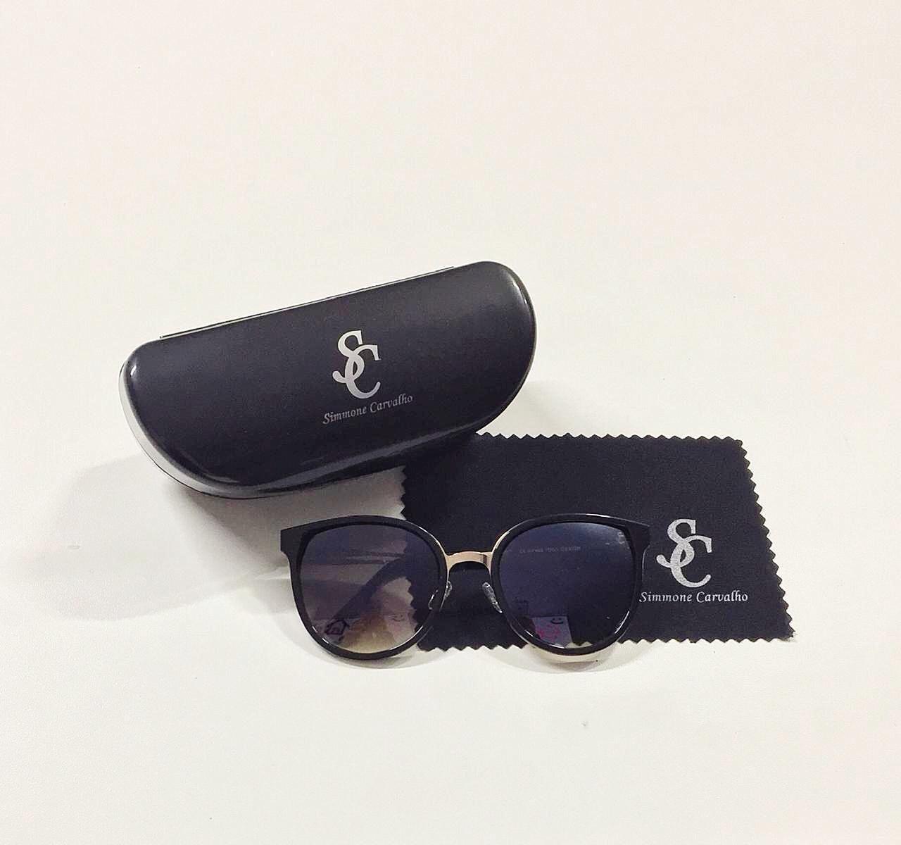 Óculos de Sol Fernanda By Simmone Carvalho Preto