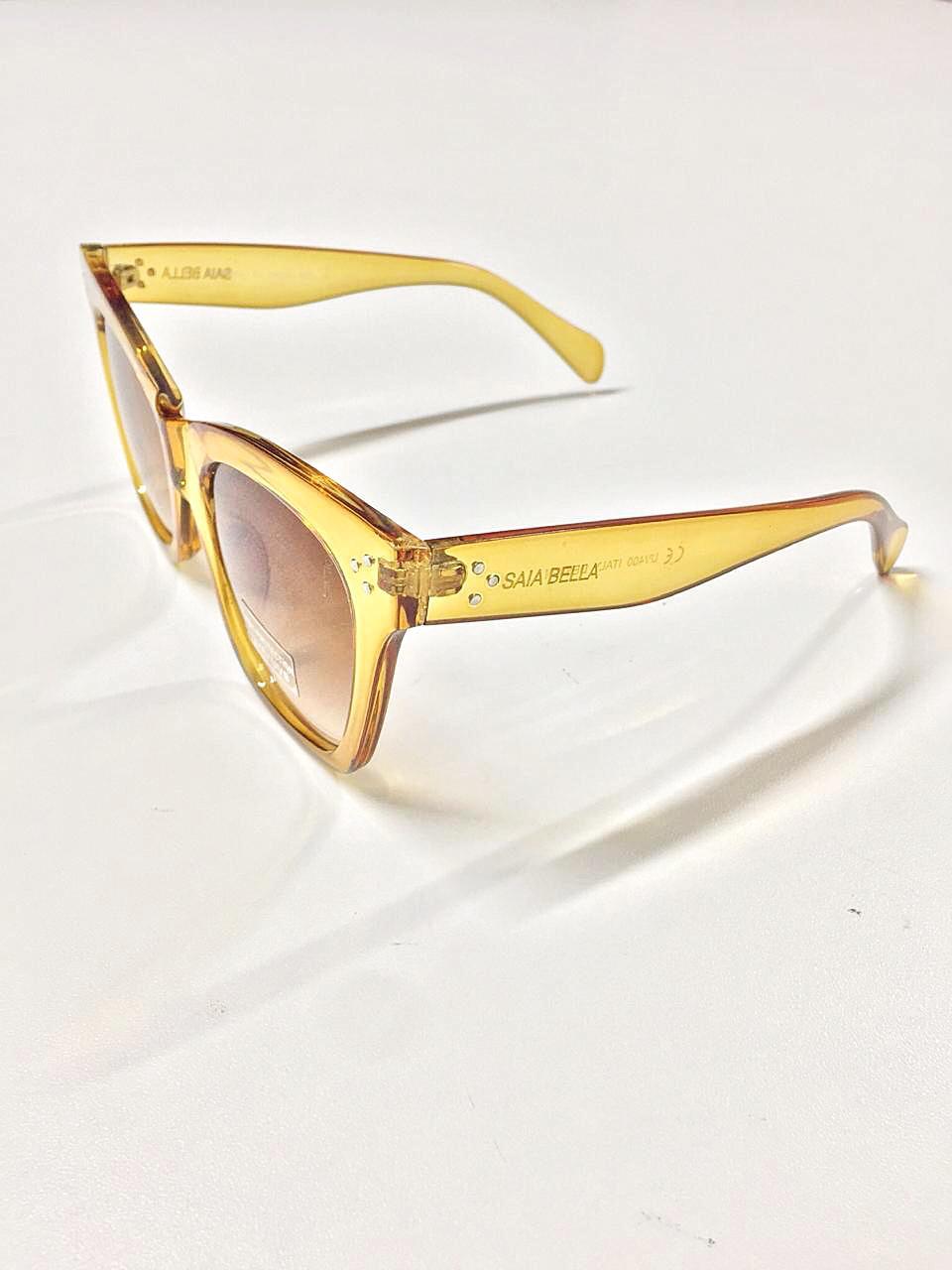 Óculos de Sol Joana By Saia Bella Caramelo