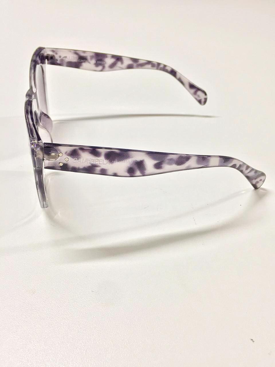 Óculos de Sol Joana By Saia Bella Tartaruga Cinza