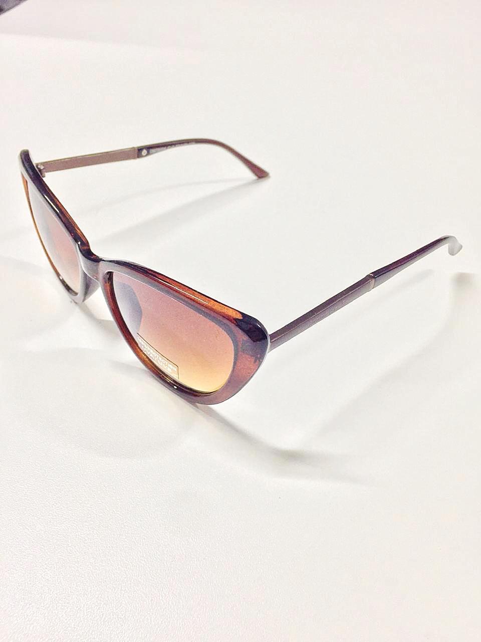 Óculos de Sol Rosane By Simmone Carvalho Marrom