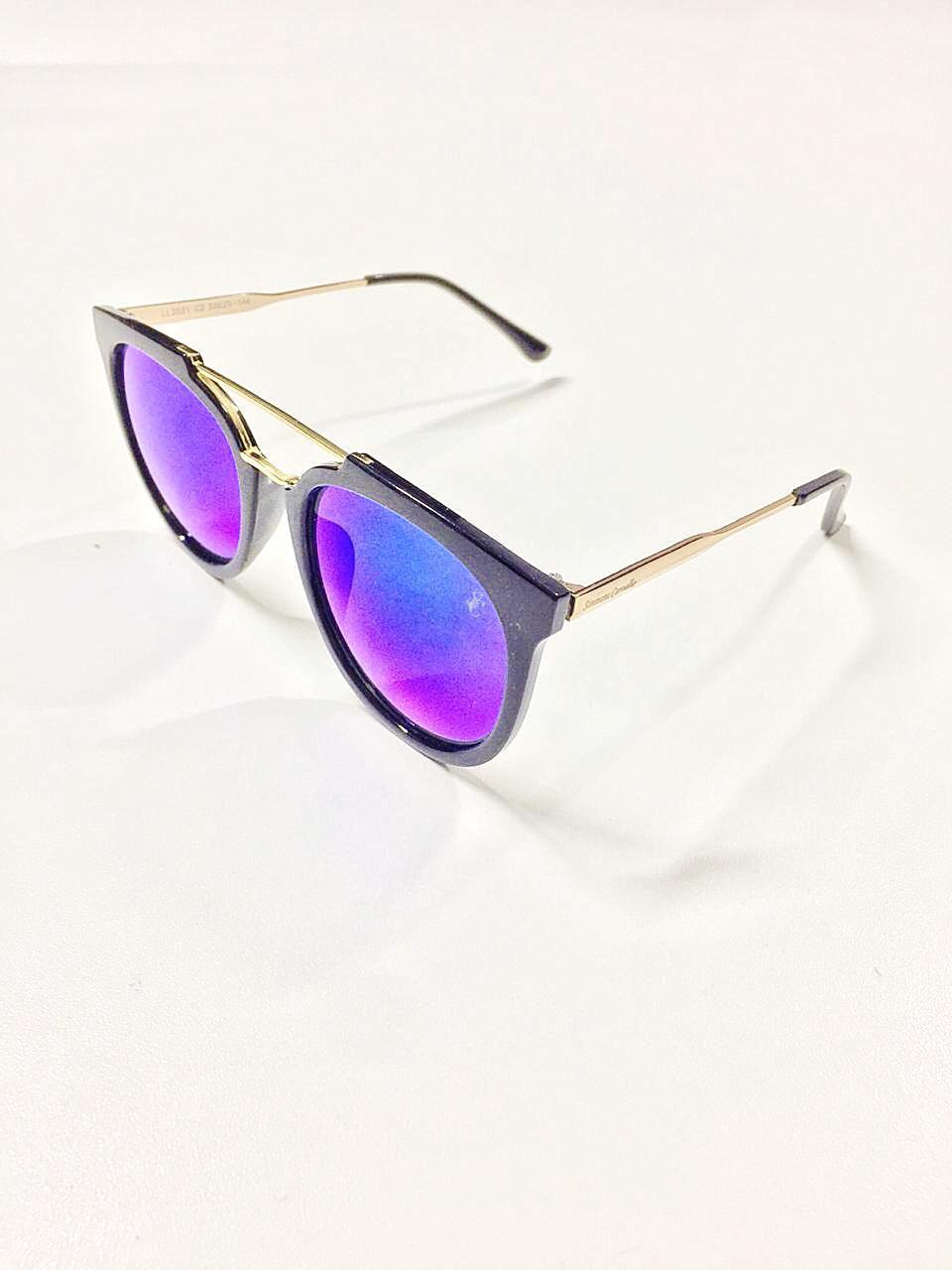 Óculos de Sol Silvia By Simmone Carvalho Preto