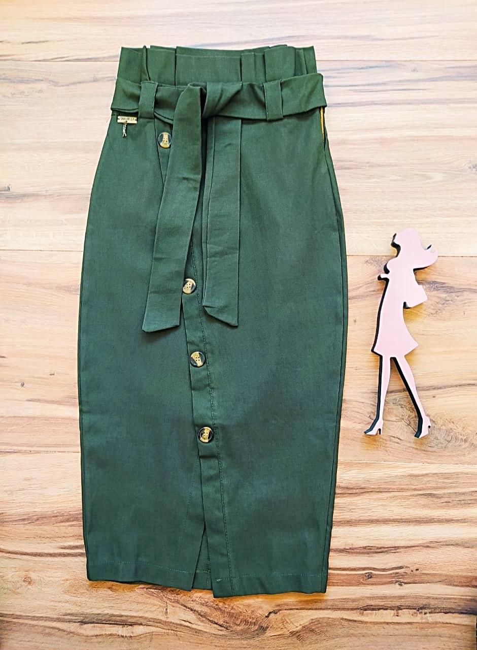 Saia Eliza Saia Bella SRB7779 Verde Militar