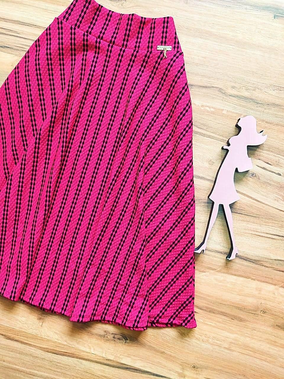 Saia Jade Godê Saia Bella SB504103 Pink