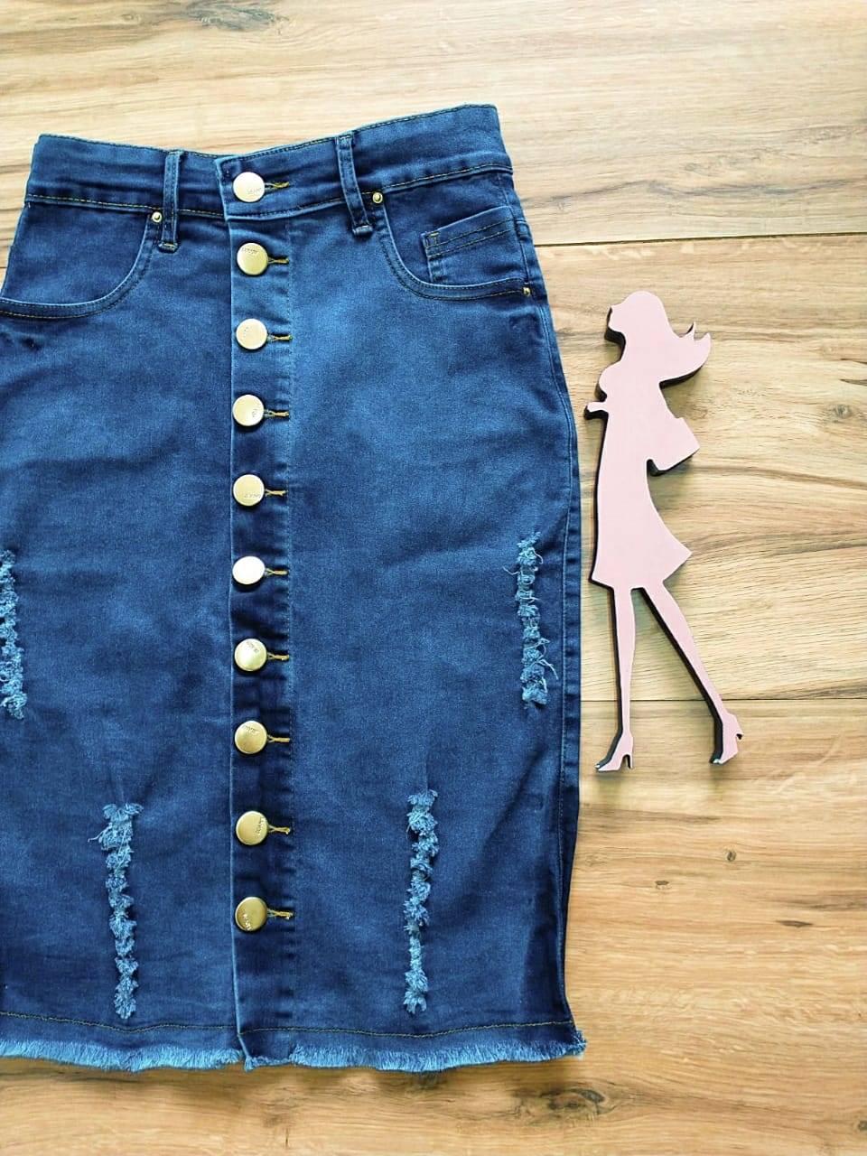 Saia  Jeans Helena Saia Bella SB123A
