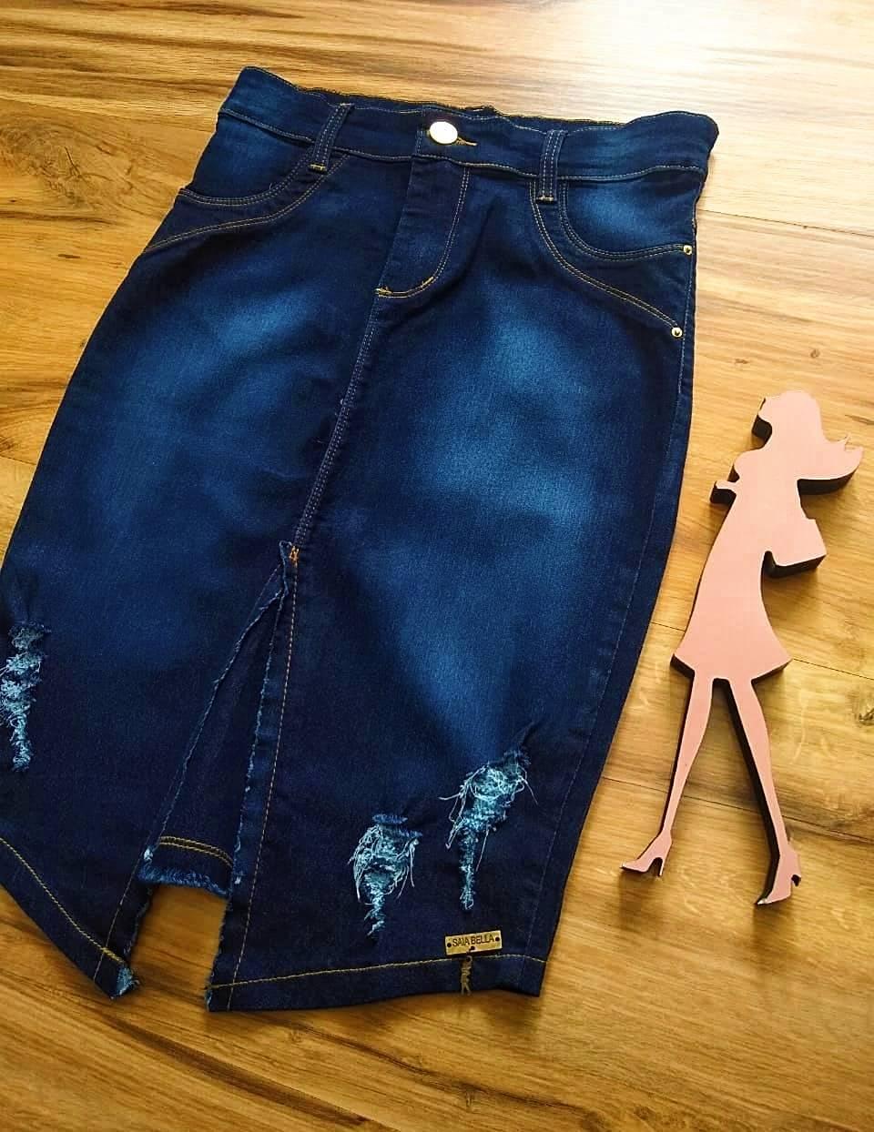 Saia Jeans Barbara SAIA BELLA SB707181 Azul Escuro