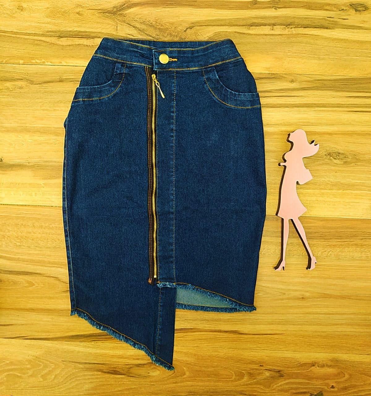 Saia Jeans Bruna SAIA BELLA SB7071990 Azul Escuro