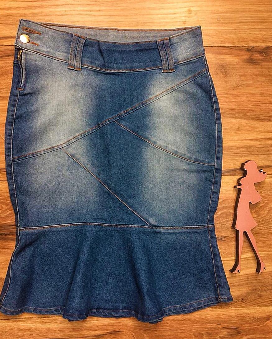 Saia Jeans Coleção Encanto Saia Bella SB052 Clara