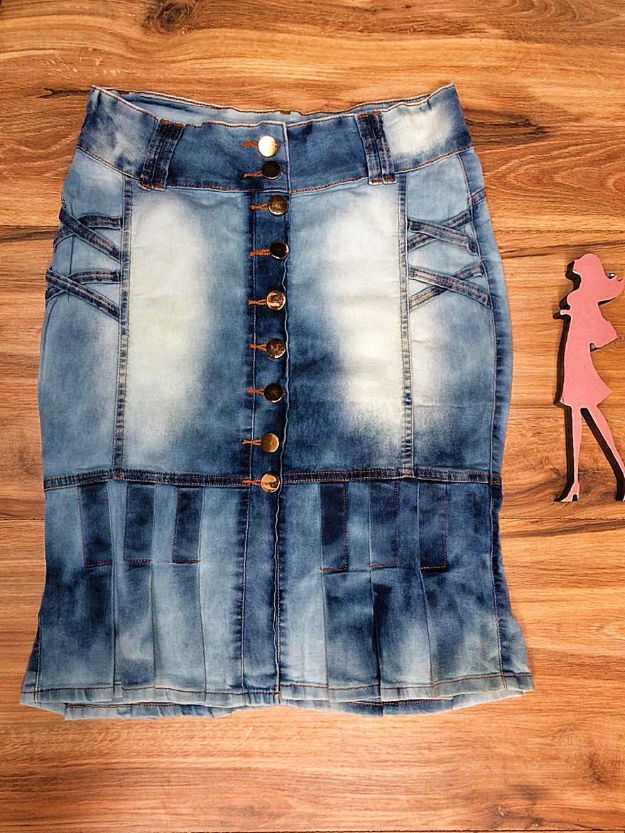 Saia Jeans Coleção Encanto Saia Bella SB053