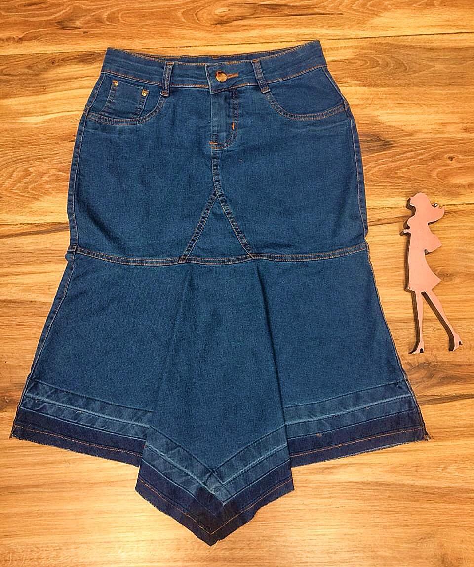 Saia Jeans Coleção Encanto Saia Bella SB055