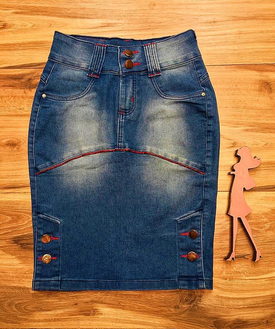 Saia Jeans Coleção Encanto Saia Bella SB056 Clara