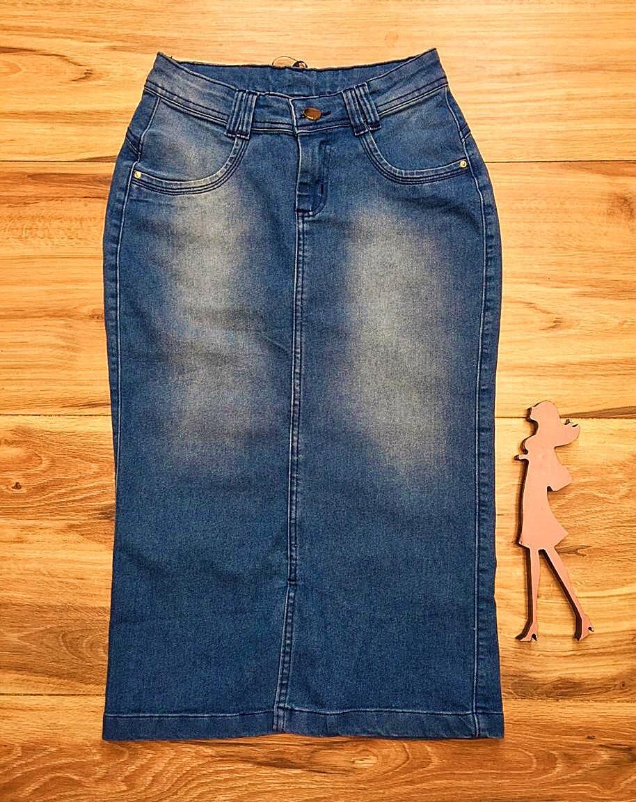 Saia Jeans Coleção Encanto Saia Bella SB059 Clara
