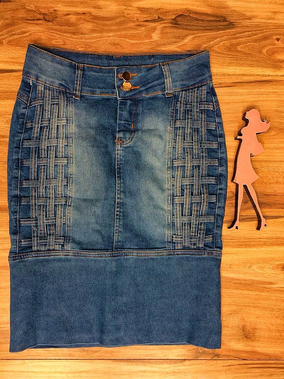 Saia Jeans Coleção Encanto Saia Bella SB061Claro