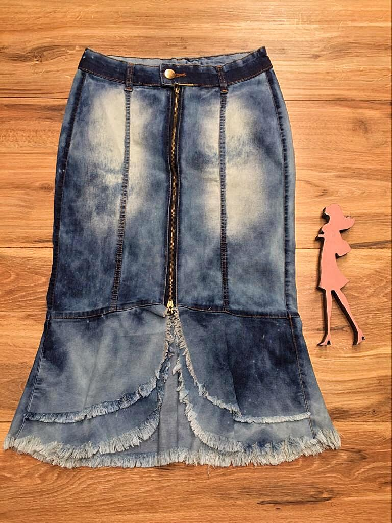 Saia Jeans Coleção Fim de Ano Saia Bella SB066