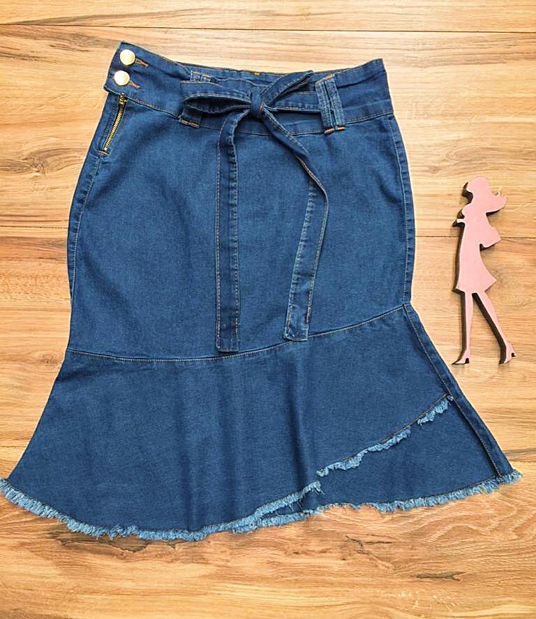Saia Jeans Coleção Fim de Ano Saia Bella SB067