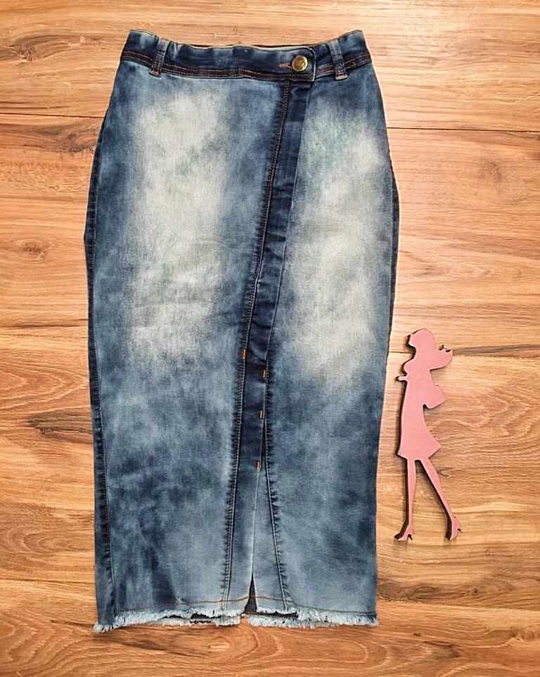 Saia Jeans Coleção Fim de Ano Saia Bella SB069