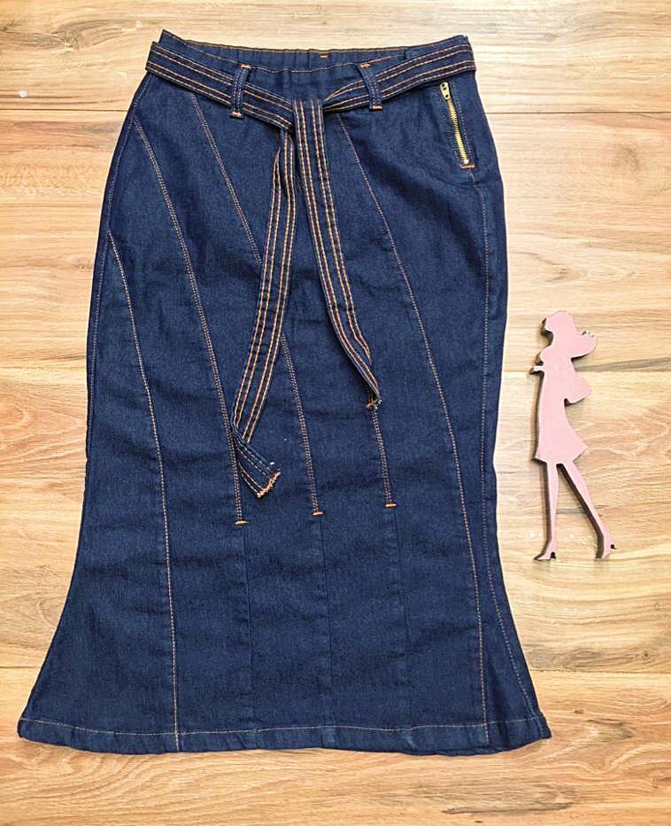 Saia Jeans Coleção Fim de Ano Saia Bella SB072