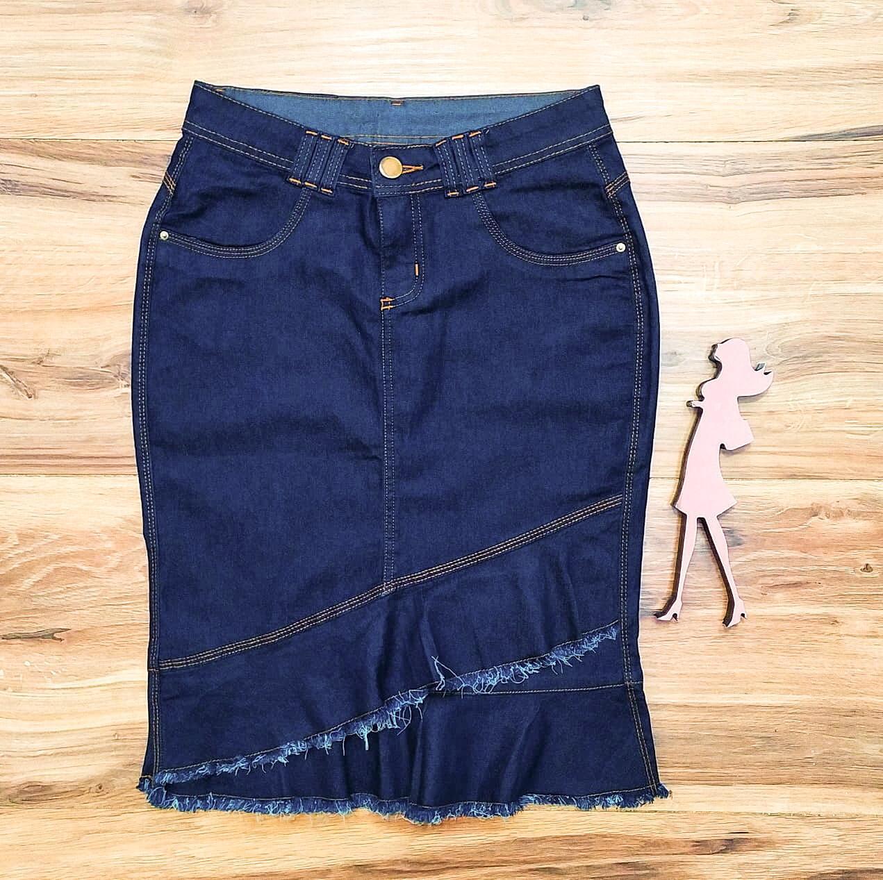 Saia Jeans Coleção Inverno Saia Bella SB964