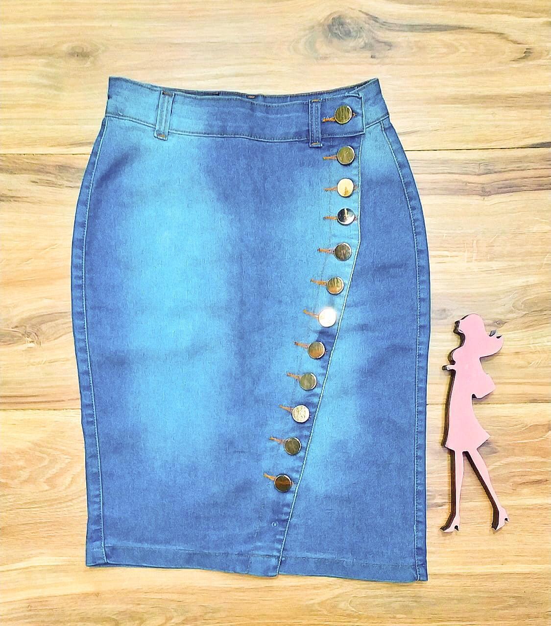 Saia Jeans Coleção Inverno Saia Bella SB965