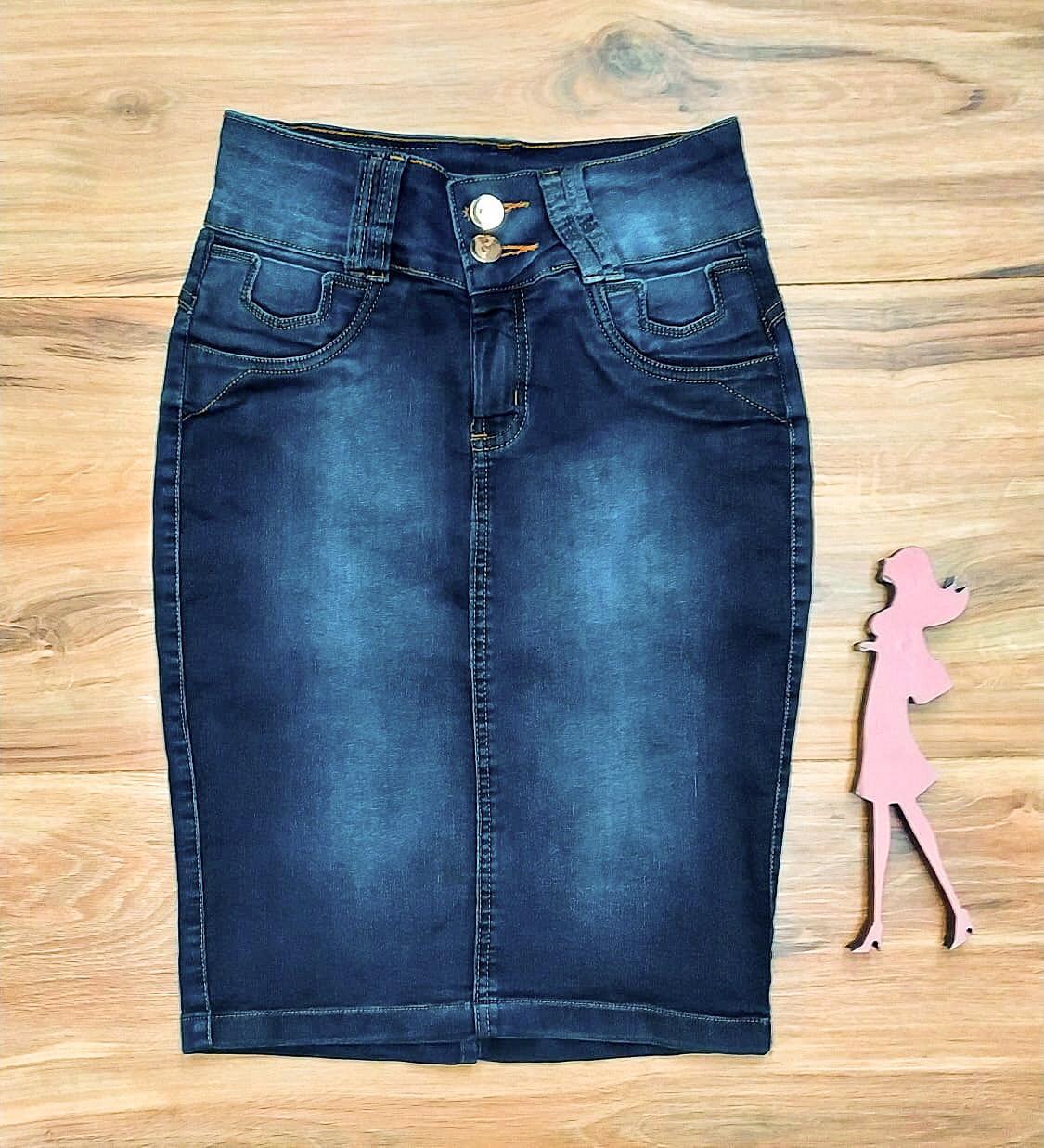 Saia Jeans Coleção Inverno Saia Bella SB965B