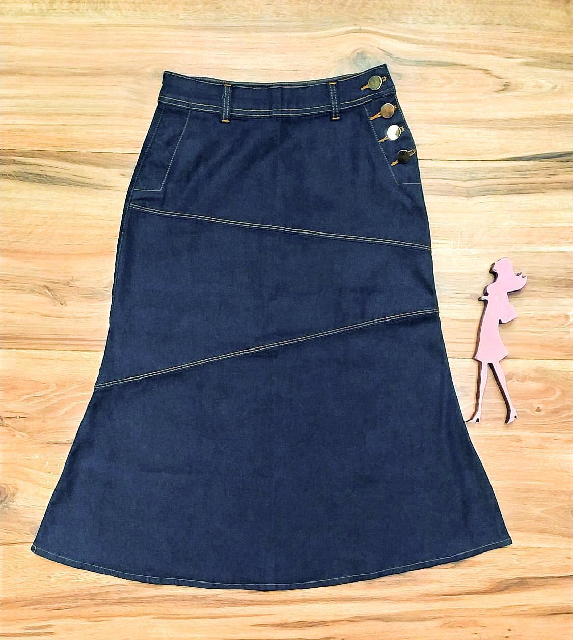 Saia Jeans Coleção Inverno Saia Bella SB967