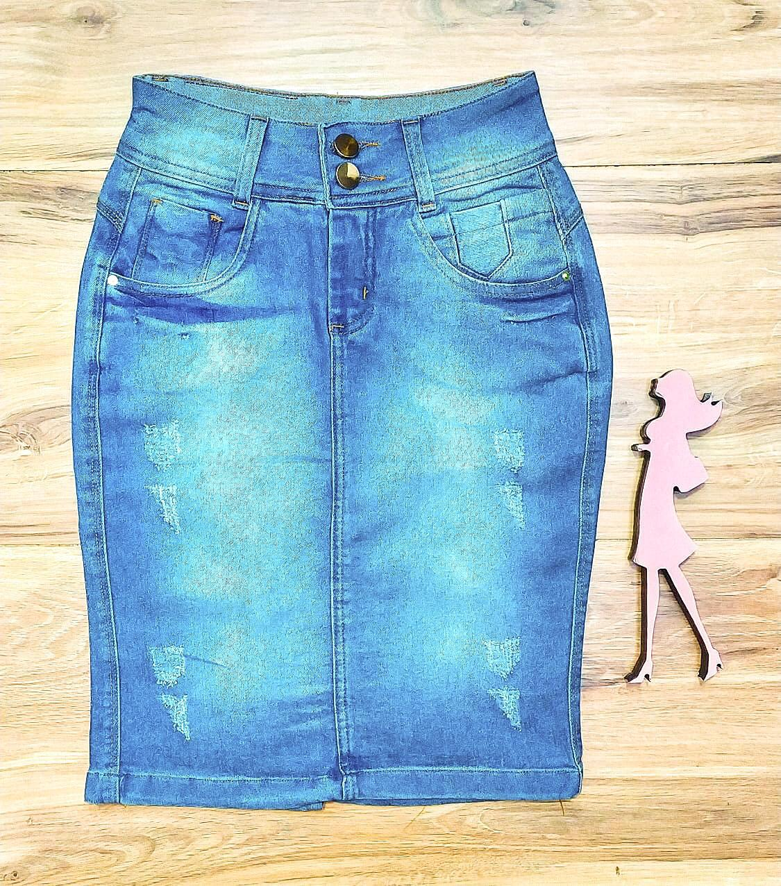 Saia Jeans Coleção Inverno Saia Bella SB968