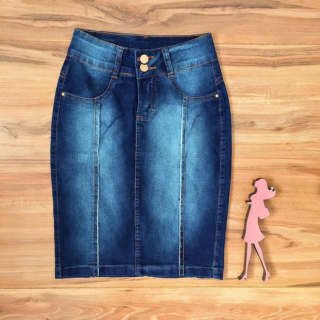 Saia Jeans Coleção Mães Saia Bella SB955