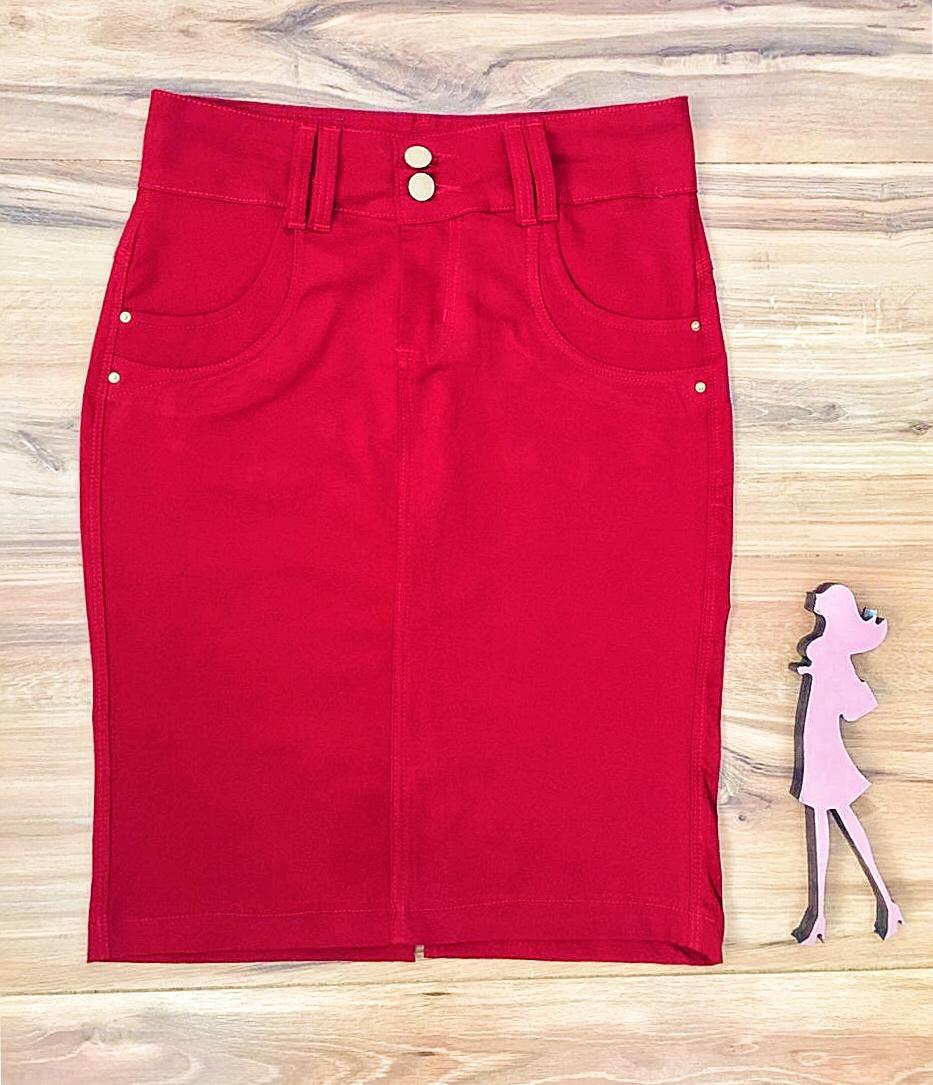 Saia Jeans Coleção Mães Saia Bella SB957