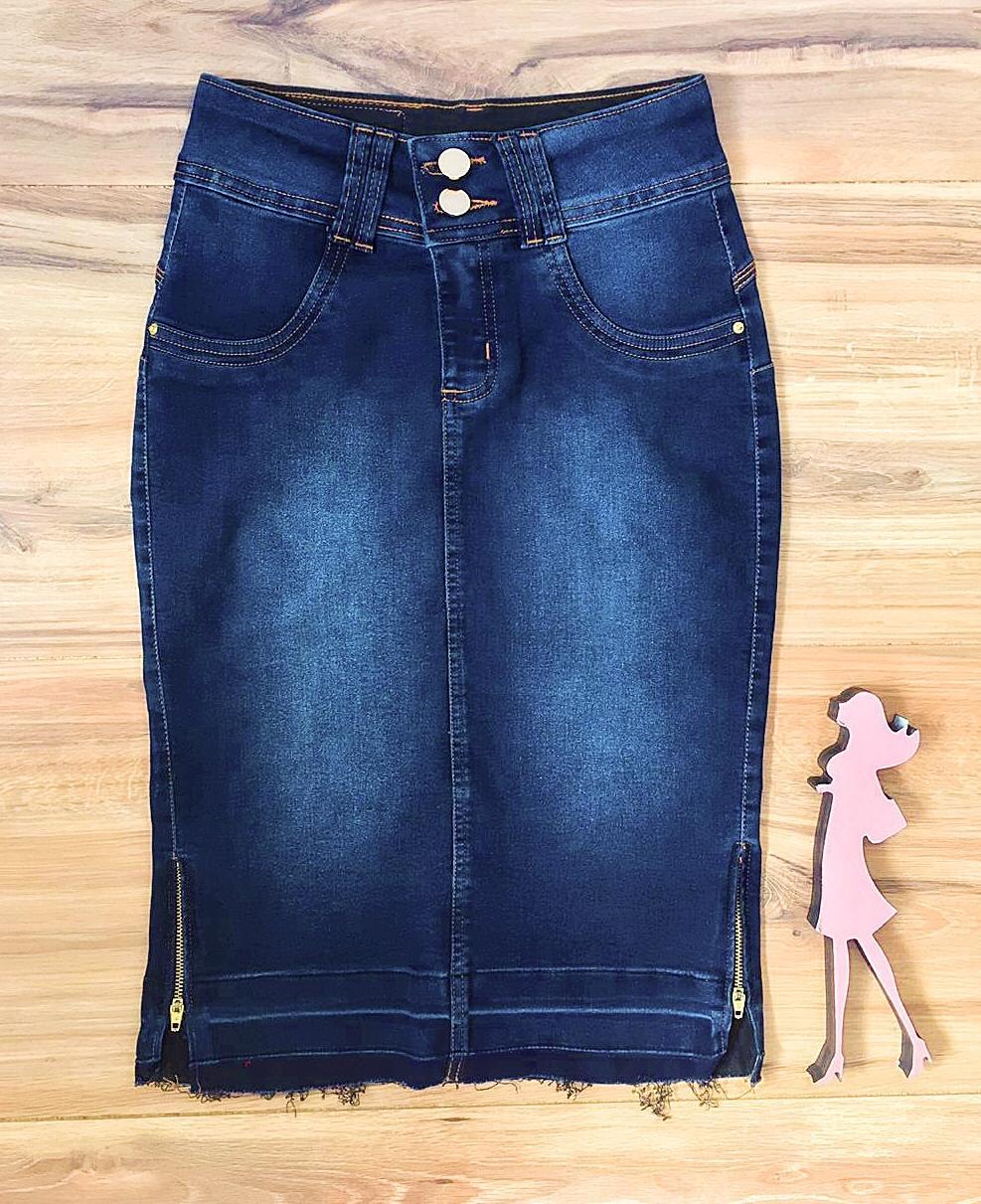 Saia Jeans Coleção Mães Saia Bella SB959