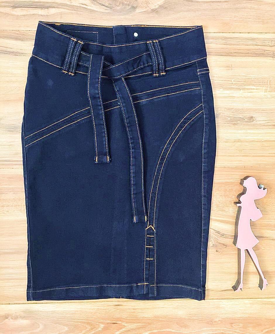 Saia Jeans Coleção Mães Saia Bella SB960