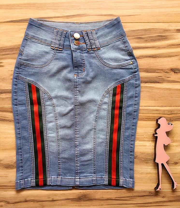 Saia Jeans Coleção Outono AT001 clara