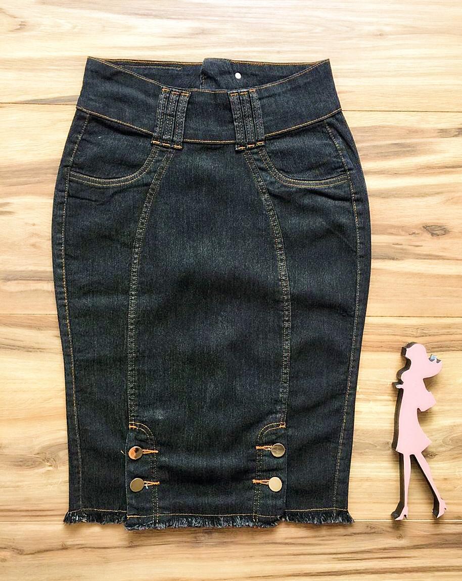 Saia Jeans Coleção Outono AT002