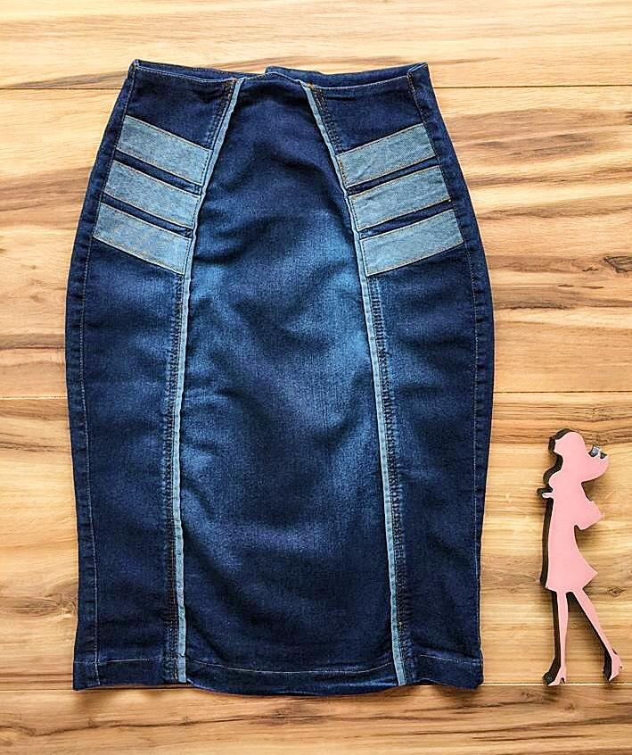 Saia Jeans Coleção Outono AT006