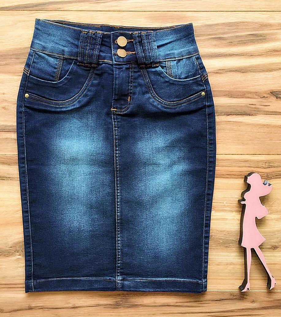 Saia Jeans Coleção Outono AT008
