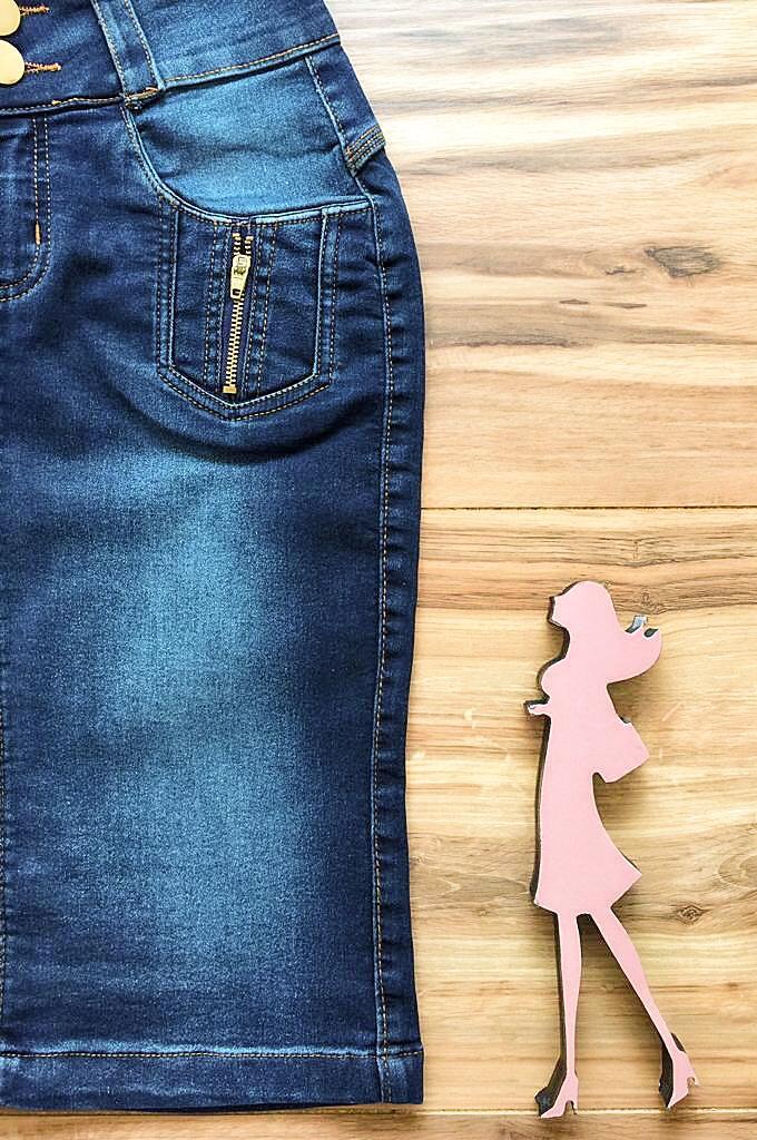 Saia Jeans Coleção Outono AT009