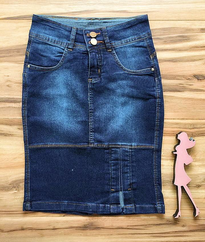 Saia Jeans Coleção Outono AT011
