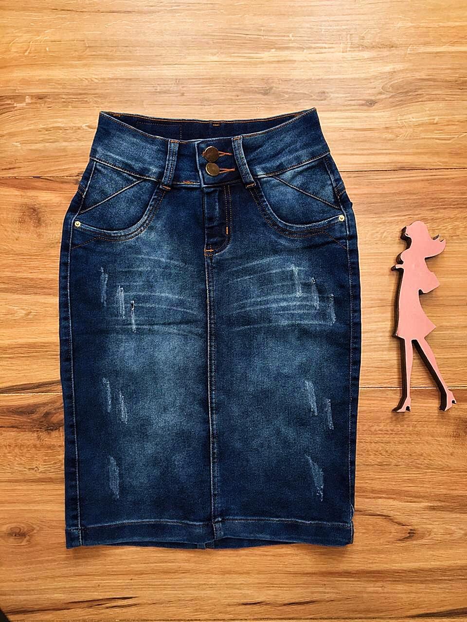 Saia Jeans Coleção Primavera Saia Bella SB036