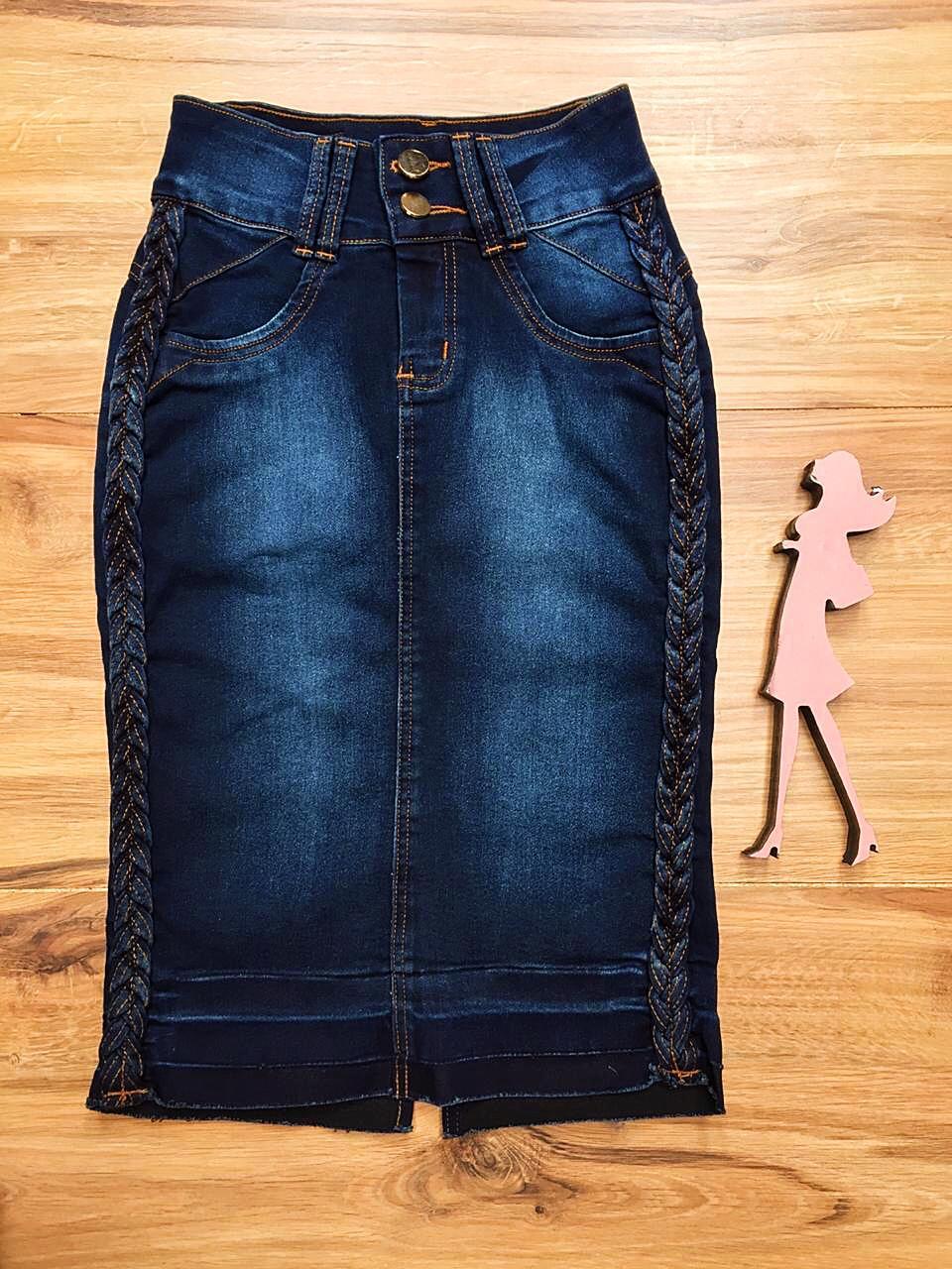 Saia Jeans Coleção Primavera Saia Bella SB037