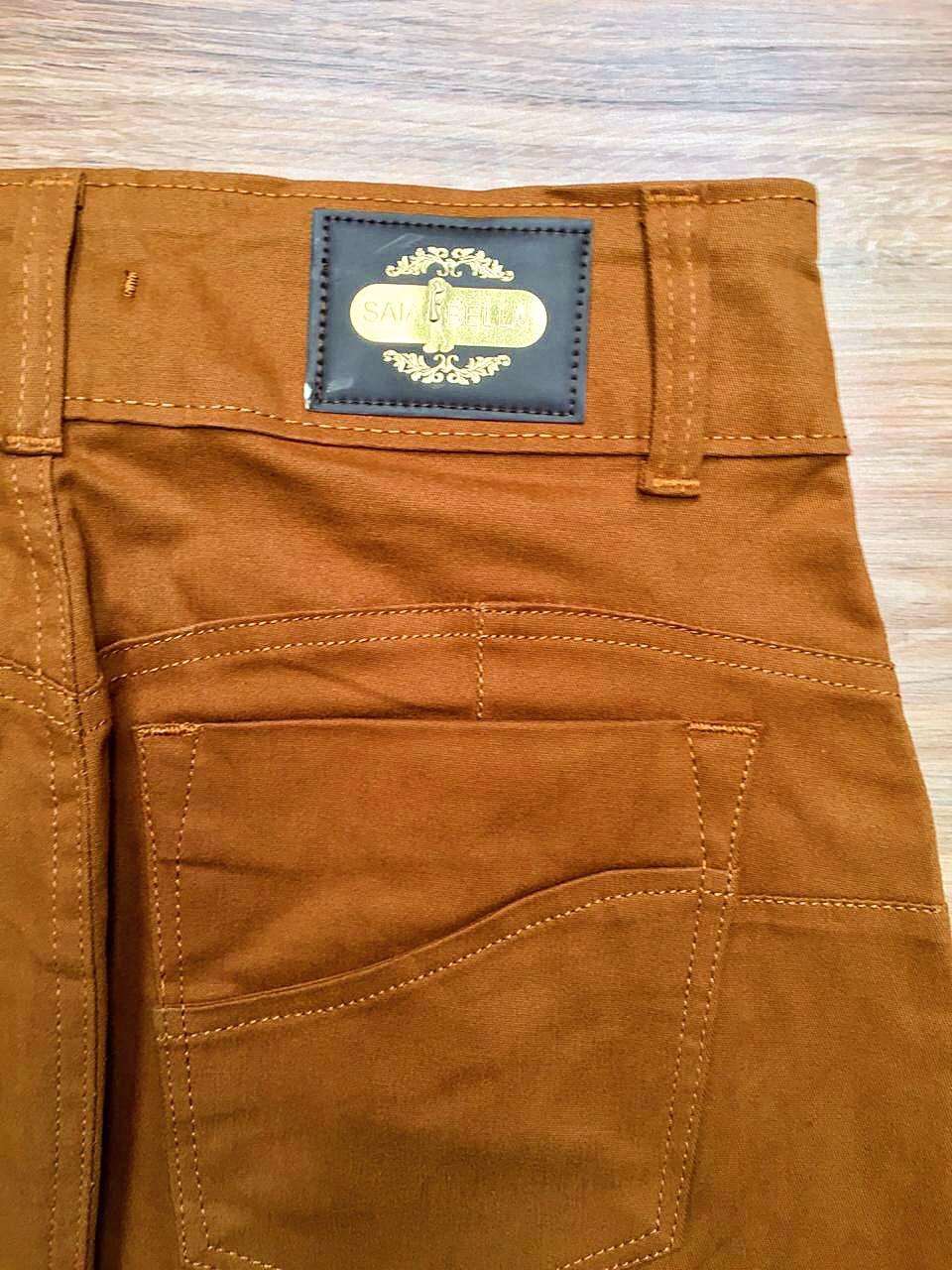 Saia Jeans Coleção Primavera Saia Bella SB040 Terra