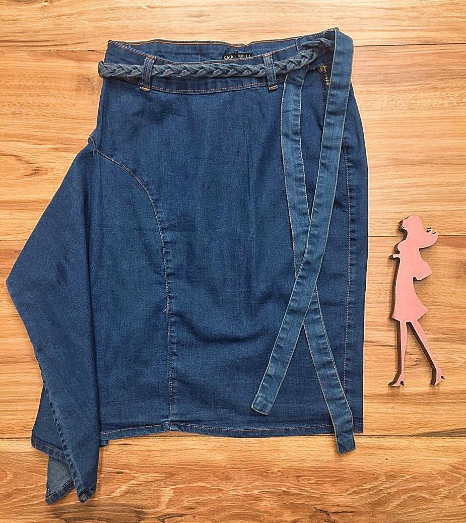 Saia Jeans Coleção Primavera Saia Bella SB042