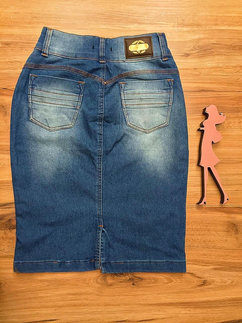 Saia Jeans Coleção Primavera Saia Bella SB045