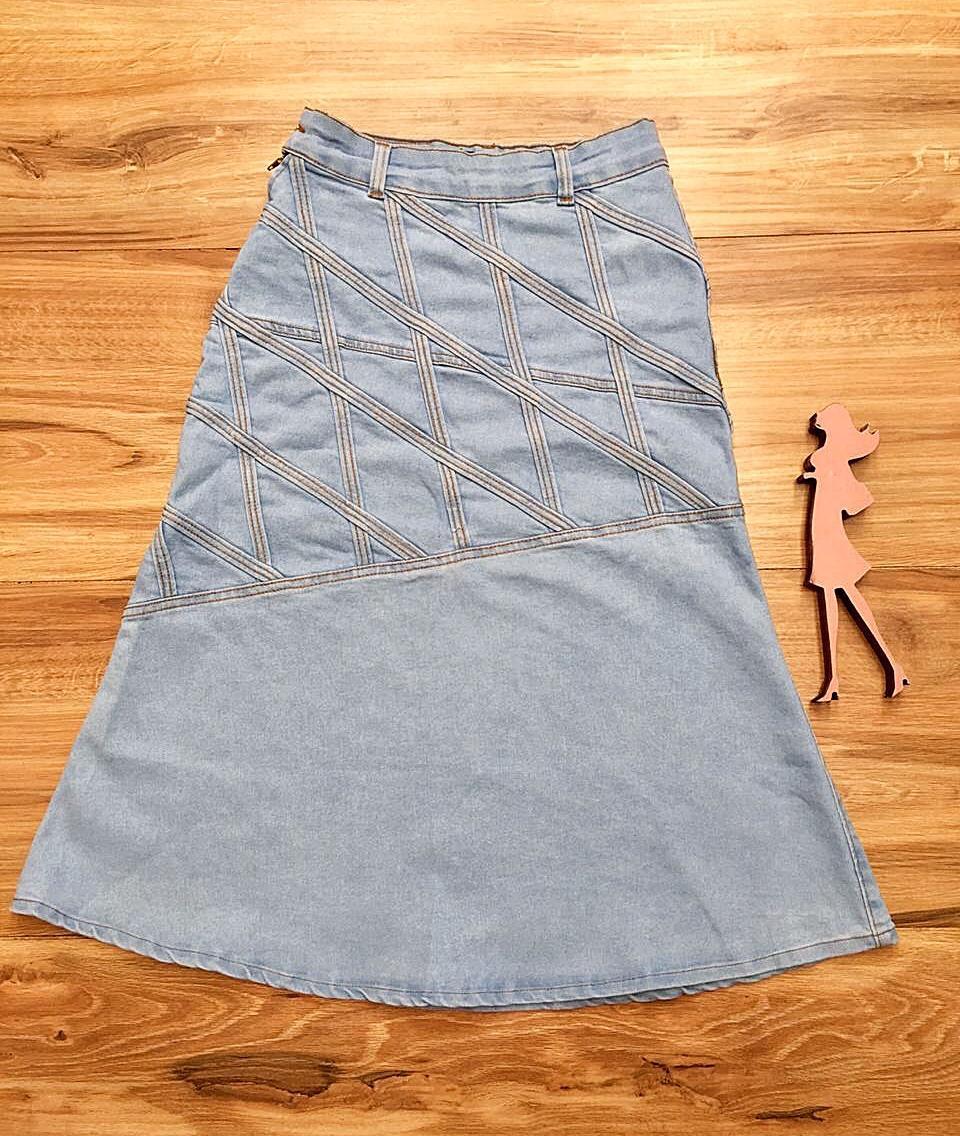 Saia Jeans Coleção Primavera Saia Bella SB046